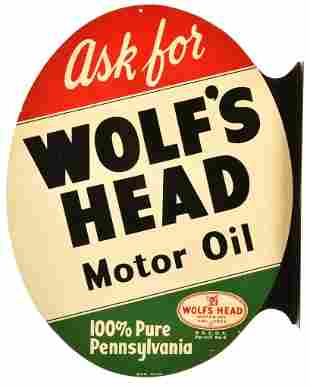 Ask for Wolf's Head Oil Metal Sign