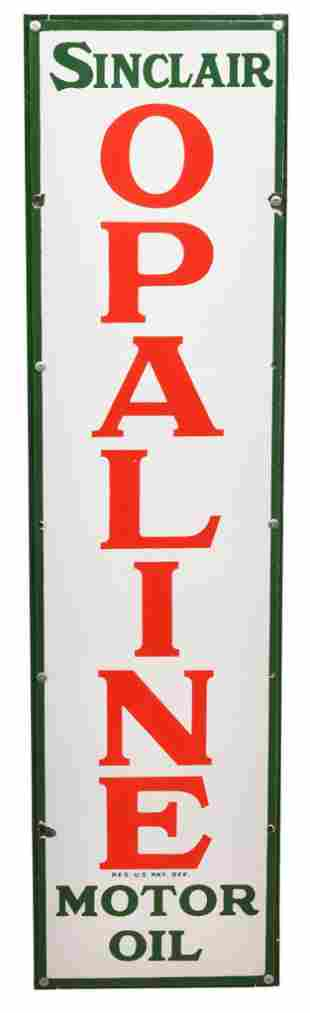 Sinclair Opaline Motor Oil Porcelain Sign
