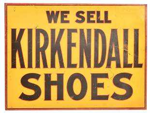 We Sell Kirkendall Shoes Metal Flange Sign