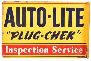 Autolite Spark Plug Metal Flange Sign