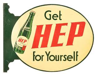 Get Hep For Yourself w/bottle Metal Sign