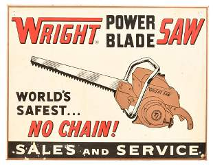 Wright Power Blade Saw w/logo Metal Sign