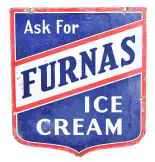 Ask For Furnas Ice Cream Porcelain Sign