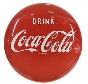 Drink Coca-Cola Porcelain Button Sign
