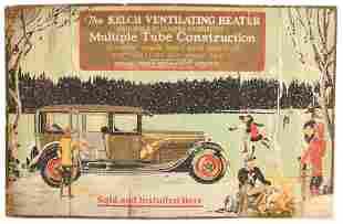 The Kelch Ventilating Heater Cardboard Sign