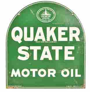 Quaker State Motor Oil Metal Sign