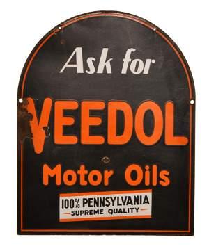Ask for Veedol Motor Oils Porcelain Sign