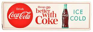 Drink Coca-Cola Ice Cold w/bottle Metal Sign