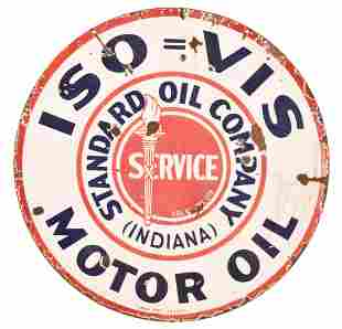 Standard ISO=VIS Motor Oil Porcelain Sign