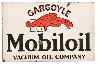 Mobiloil w/Gargoyle Porcelain Sign