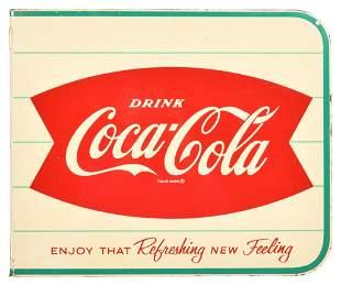 Drink Coca-Cola Fish Tail Logo Metal Sign