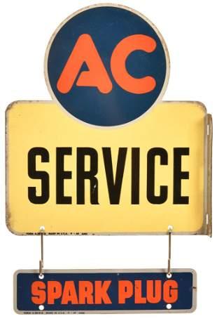 AC Service & Spark Plug Metal Signs