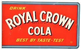 Drink Royal Crown Cola Metal Sign