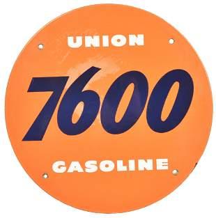 Union 7600 Gasoline Porcelain Sign