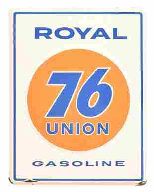 Royal 76 Union Gasoline Porcelain Sign