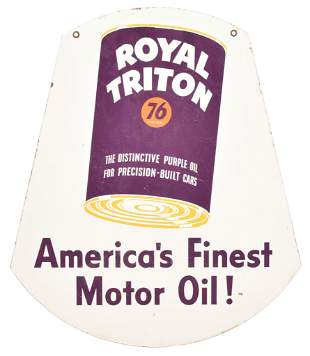 Royal Triton Union 76 Motor Oil Porcelain Sign