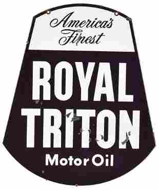 Royal Triton Motor Oil Porcelain Sign