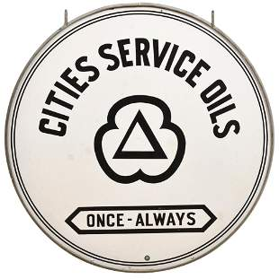 "Cities Services ""Once-Always"" w/Logo Porcelain Sign"