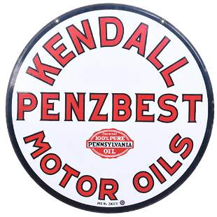 Kendall Penzbest Motor Oil Porcelain Sign (TAC)