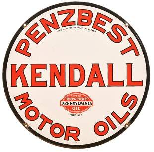 Kendall Penzbest Motor Oil Porcelain Sign
