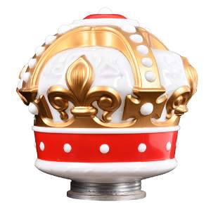 Standard Oil OPC Gold-Red Milk Glass Crown Globe