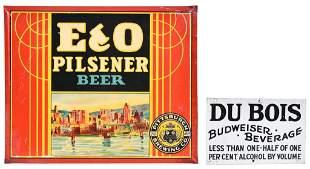 E&O Pilsner Beer & Du Bois Metal Sign