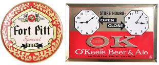 Port Pitt Special Beer Celluloid Button Sign