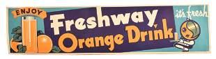 Enjoy Freshway Orange Drink Thin Cardboard Sign