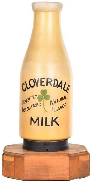 Clovedale Milk Light Up Glass Advertising Display