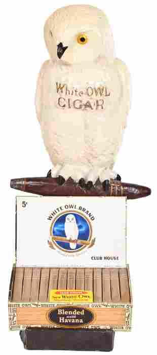 White Owl Cigar Papier Mache Store Display