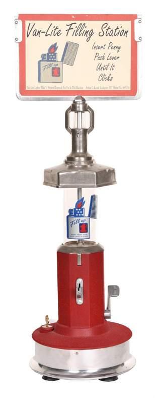 Van-Lite Filling Station Lighter Coin-Op Dispenser