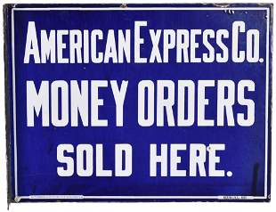 American Express CO. Money Orders Sold Here Porcelain