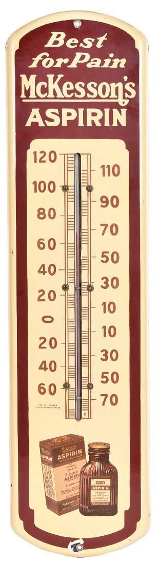 Mckesson's Aspirin Porcelain Thermometer