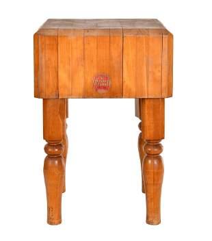 Small Hard Maple Butcher's Block Table