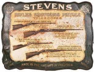 Stevens Rifles Shotguns Tin Sign
