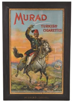 Murad Turkish Cigarettes Sign in Original Frame