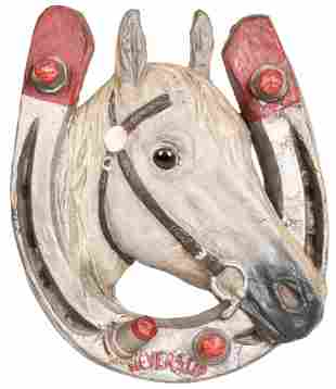 Neverslip (horse shoes) Paper-Mache Sign