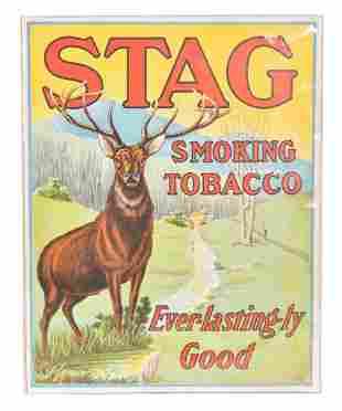 Stag Smoking Tobacco w/Logo Cardboard Store Display