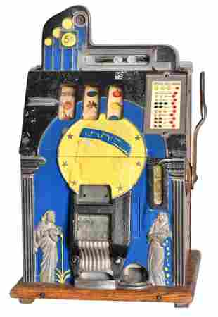 Mills 5 Cent Roman Head Slot Machine