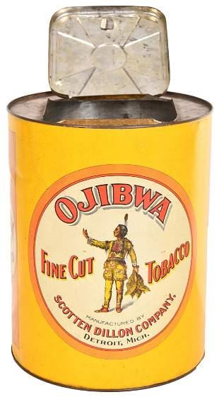 Ojibea Fine Cut Tobacco Tin Store Display Bin