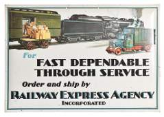 Railway Express Agency Metal Sign