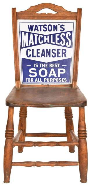 Watson's Matchless Cleanser Soap Porcelain Sign Chair