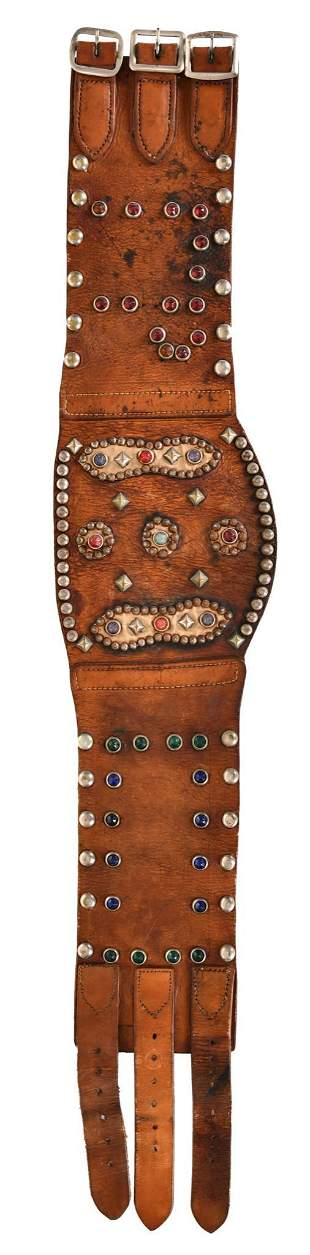 Leather Kidney Belt with Jewels & Stubs