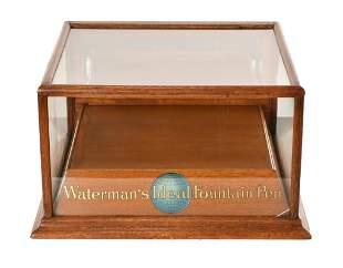 Waterman Ideal Fountain Pen Oak Display Cabinet