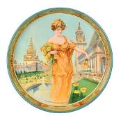 Ruhstaller's Gilt Edge Lager Metal Serving Tray w/Lady