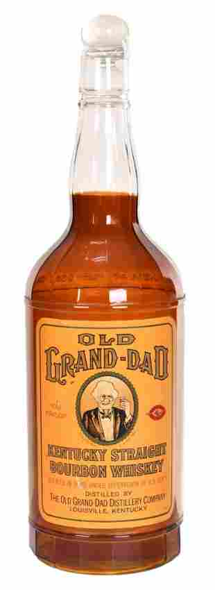 Very Large, Old Grand-Dad Whiskey Store Display Bottle
