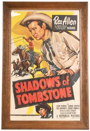 Rex Allen in Shadows of Tombstone Movie Poster