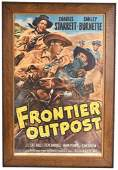 1949 Frontier Outpost Western Movie Poster