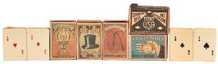 Celluloid Playing Card Match Box Covers & Match Boxes