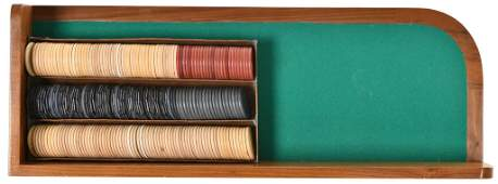 Box of Clay Poker Chips with Chip Tray